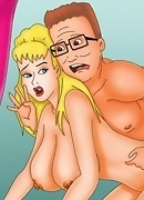 Big-tittied toon beauties get hard sex treatments