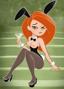 Kim Possible takes facial blast and comes
