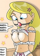 Steamy Cartoon girl with pierced breasts