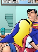 Superman and Supergirl teach Justice League to fuck